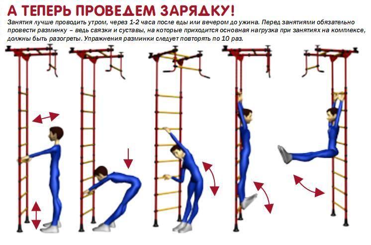 упражнения на кольцах