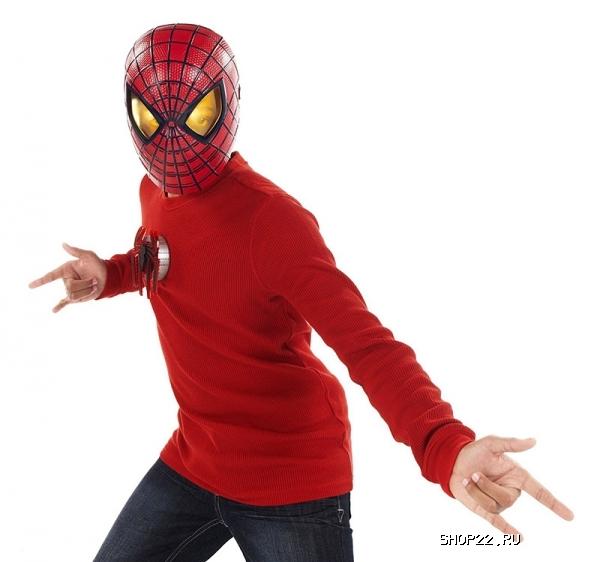 Маска человека паука видео
