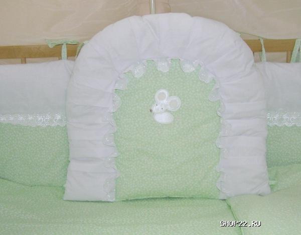 Бортики в кроватку кошки