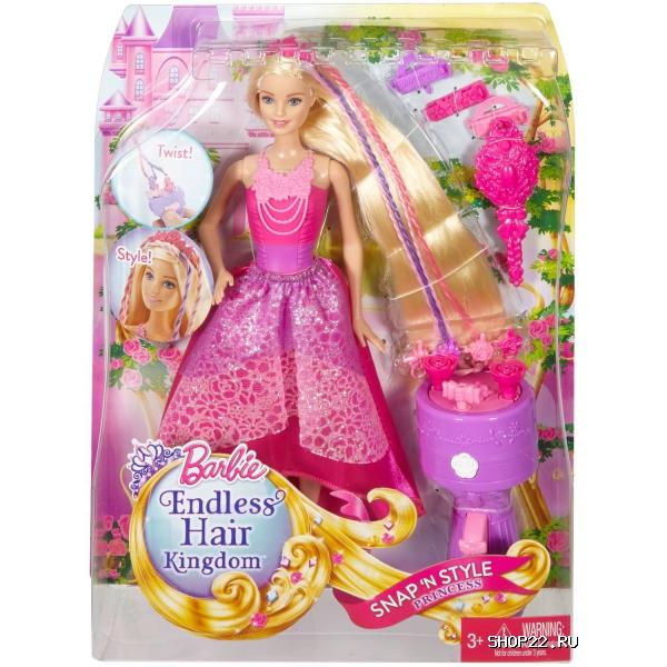 Barbie кукла-принцесса с волшебными волосами