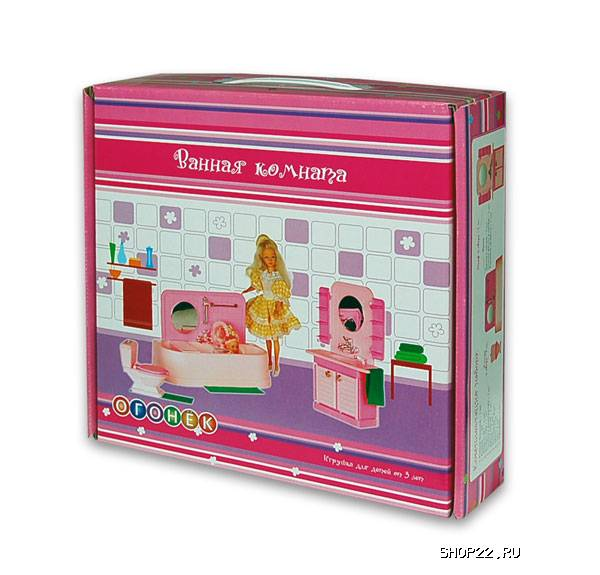 Комната для куклы в коробке