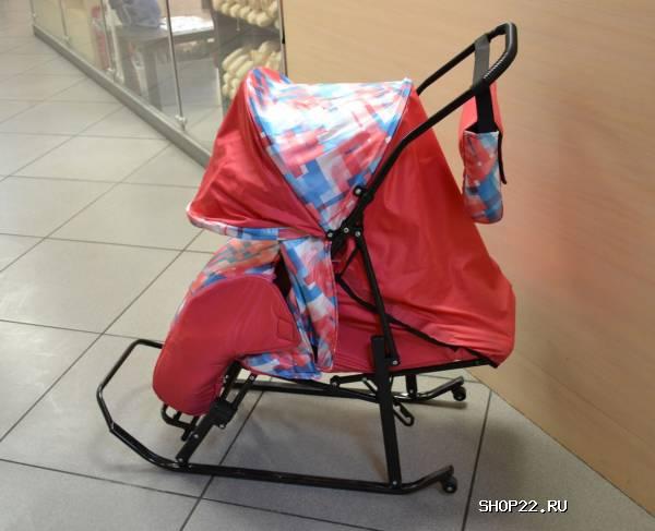 3300р.  Плоские полозья, козырек, сумка, утепленная накидка.  Подробнее о доставке и оплате.